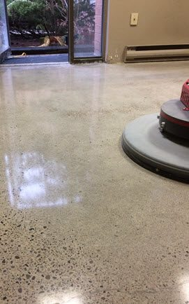 commercial concrete polishing services