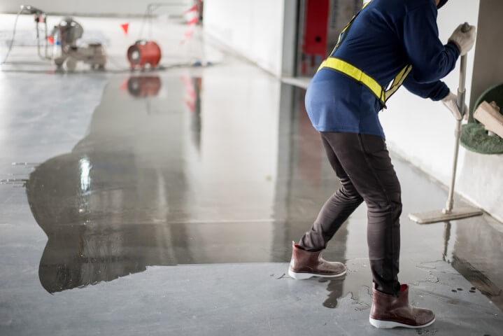 commercial concrete flooring polishing