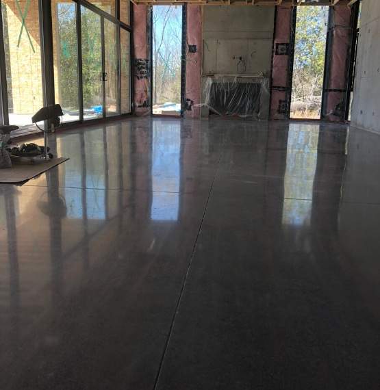 our process for polishing floors