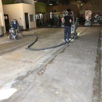 setting up concrete polishing