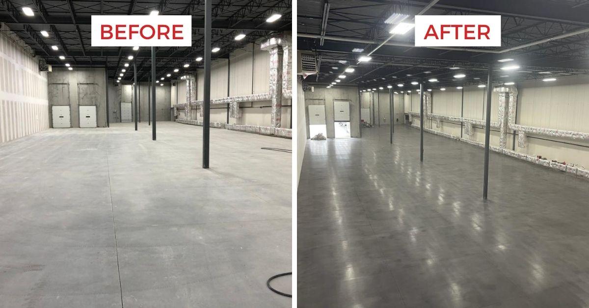 toronto project concrete polishing