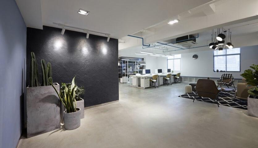 concrete floors in office Bradford
