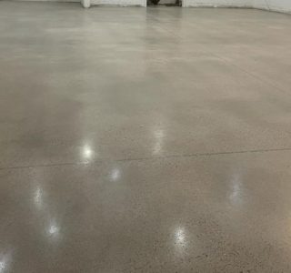 Image depicts a polished concrete floor in Wasaga Beach.