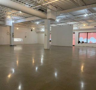 Image depicts a concrete polished floor as part of our concrete polishing for retail store in Oshawa project.