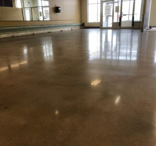 Image depicts commercial concrete floors that have been polished.